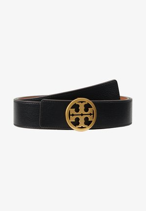 REVERSIBLE LOGO BELT - Cinturón - black/gold-coloured