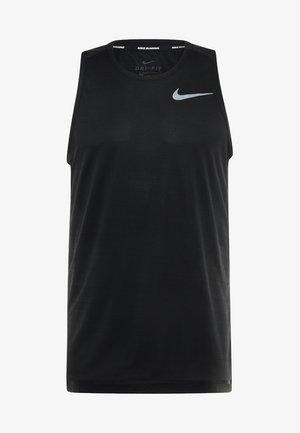 DRY MILER TANK - T-shirt de sport - black/black/reflective silver