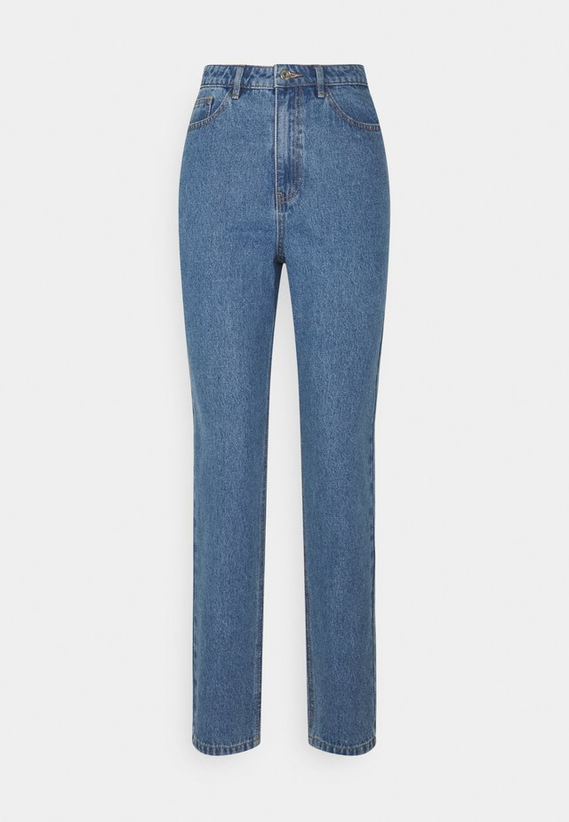 RIOT HIGH WAISTED PLAIN RIDGIDMOM - Jeans a sigaretta - blue