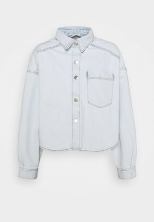 CROPPED SHIRT - Button-down blouse - pale blue