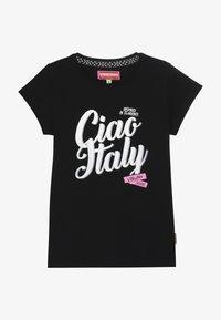 Vingino - HINRY - Print T-shirt - deep black - 2
