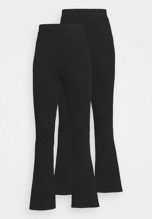 2 PACK - Flared Leg Leggings - Pants - Legging - black/black