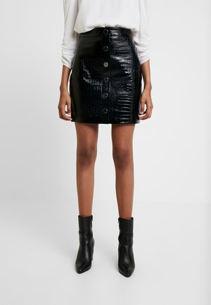 BELA SKIRT - Pencil skirt - croc black