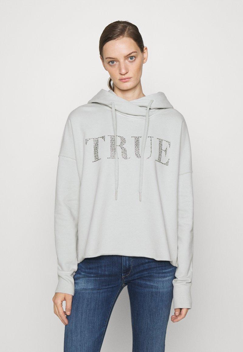True Religion - BOXY CROPPED HOODY - Sweatshirt - dawn