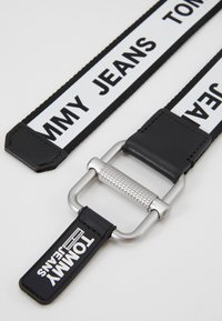 Tommy Jeans - LOGO TAPE BELT - Vyö - black - 1