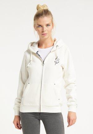 Zip-up hoodie - wollweiss
