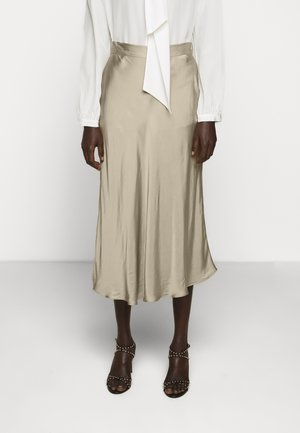BACA SKIRT - Maxi skirt - roasted grey khaki