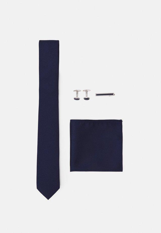 KRAWATTE SET - Taskuliina - dark blue