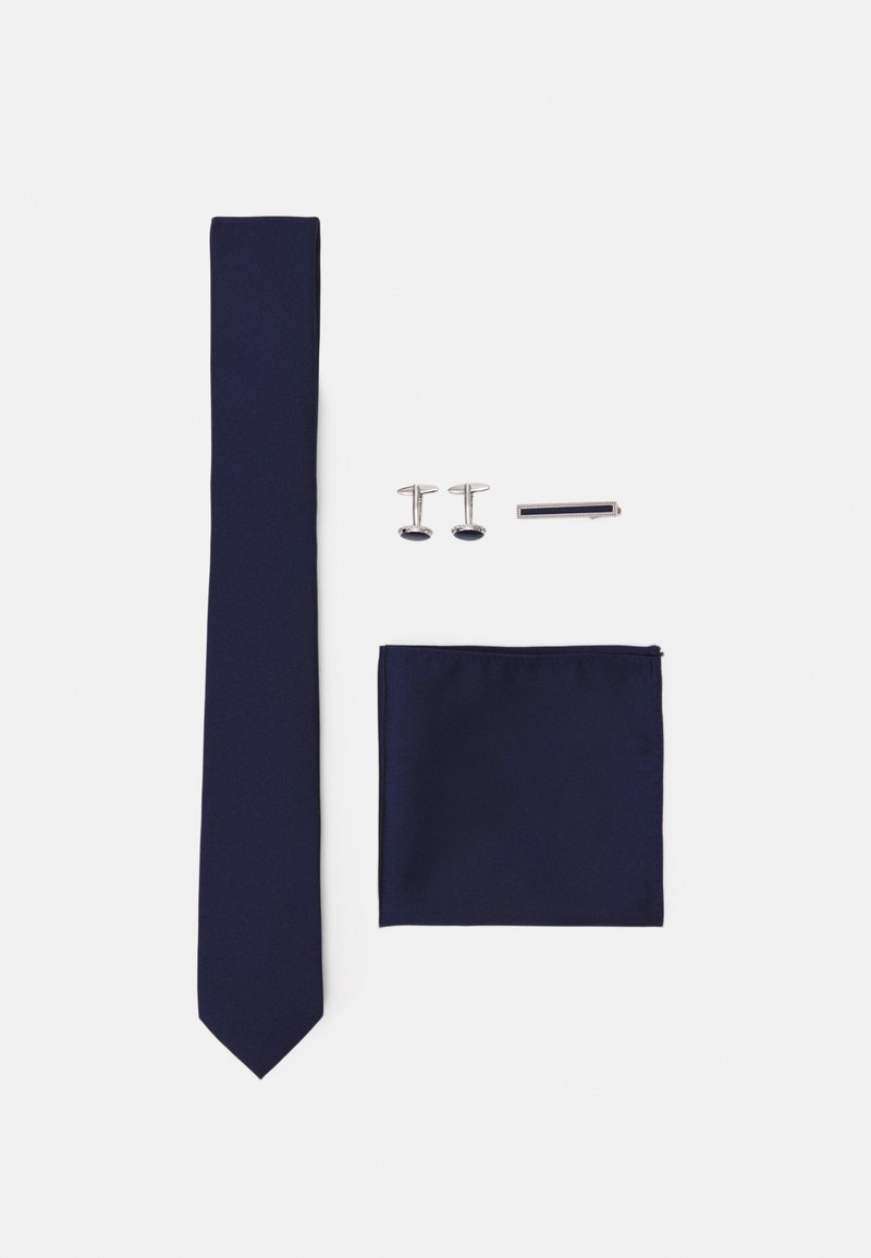 Pier One - KRAWATTE SET - Taskuliina - dark blue