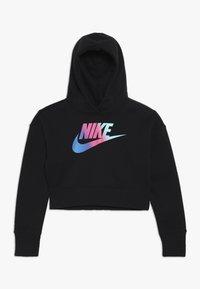 Nike Sportswear - CROP - Felpa con cappuccio - black/white - 0