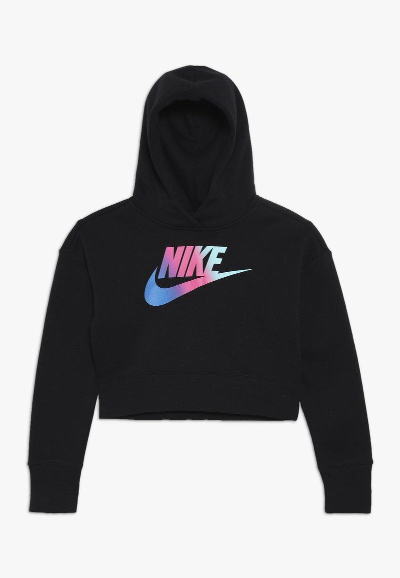 Nike Sportswear - CROP - Felpa con cappuccio - black/white