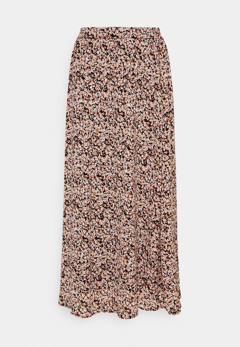 Moss Copenhagen - MERILA RIKKELIE SKIRT  - Maxi skirt - black