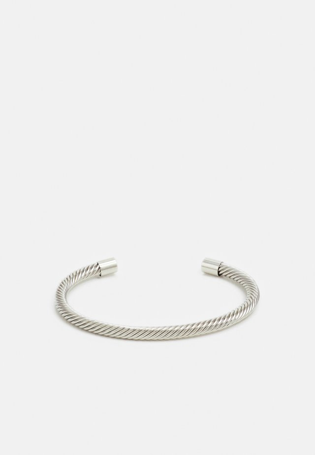 TWISTED CUFF - Armband - silver-coloured