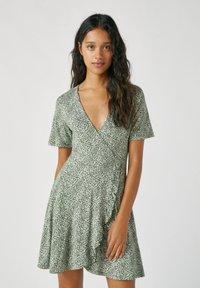 PULL&BEAR - Denní šaty - dark green - 0