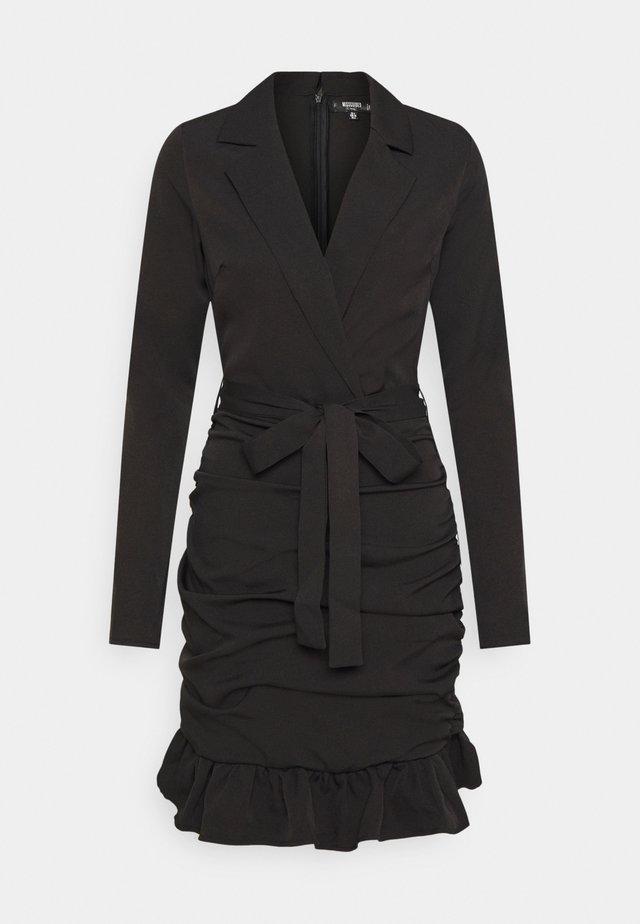 RUCHED FRILL BLAZER DRESS - Vardagsklänning - black