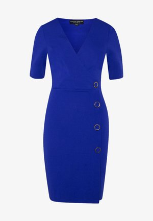 BUTTON DETAIL SHIFT DRESS - Etuikjole - cobalt