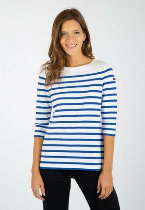 BREST - MARINIÈRE - T-SHIRT - Long sleeved top - blanc/etoile