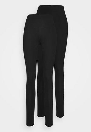 BASIC 2PACK - Leggings - black
