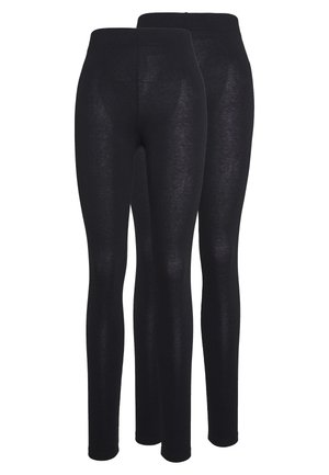 BASIC 2PACK - Leggings - black