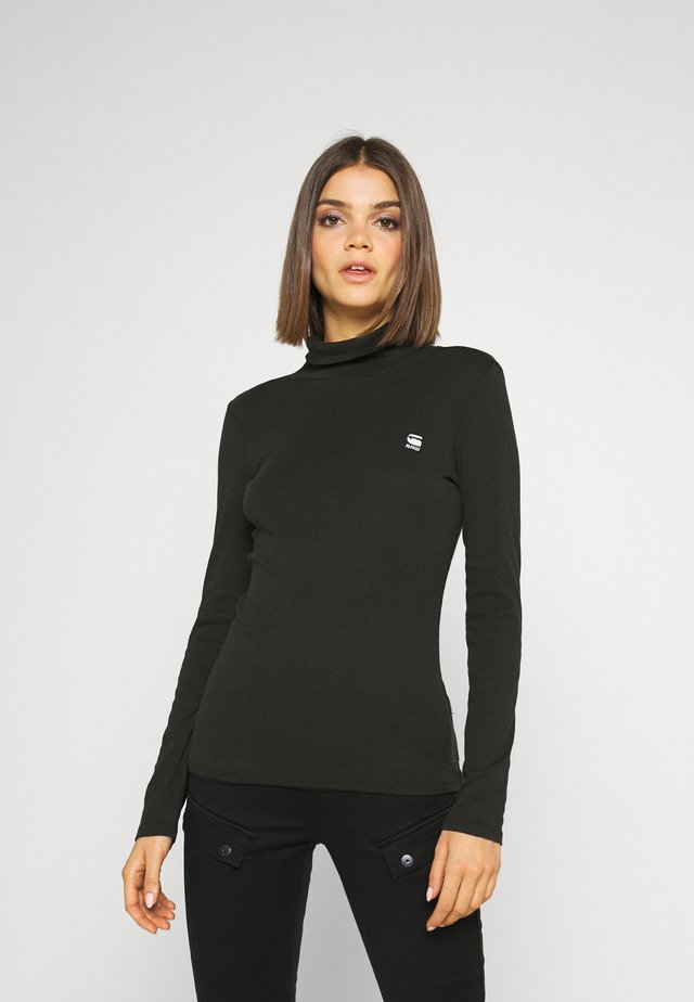 XINVA SLIM TURTLE LONG SLEEVE C - Top s dlouhým rukávem - black
