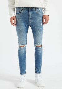 PULL&BEAR - Slim fit jeans - stone blue denim - 0