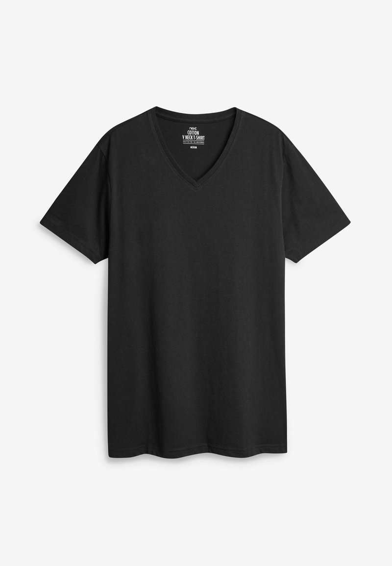 Next FIVE PACK - T-Shirt basic - black/schwarz na3NNU