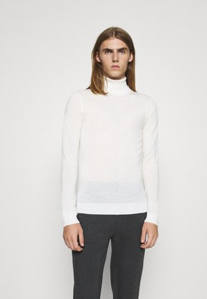 CHARLES ROLL NECK - Jumper - snow white