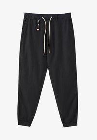 PULL&BEAR - Chino kalhoty - black - 0