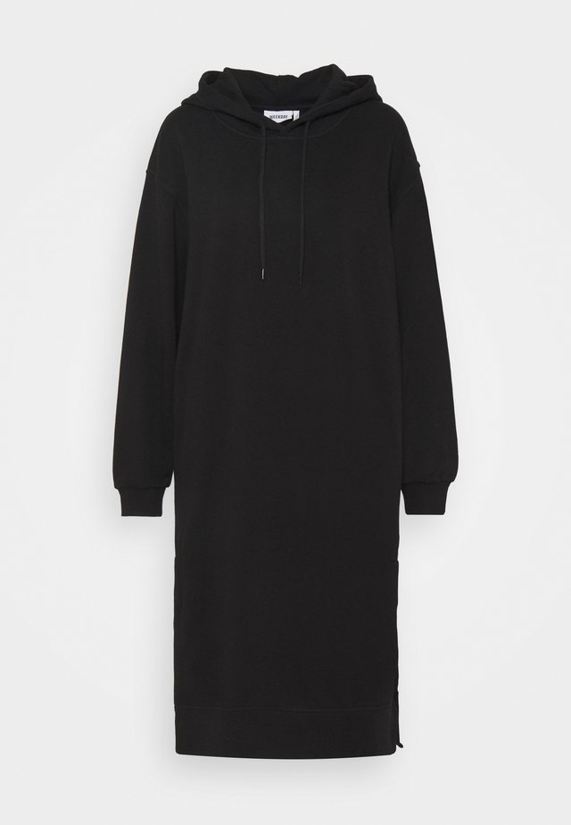 MARCIE HOOD DRESS - Korte jurk - black dark