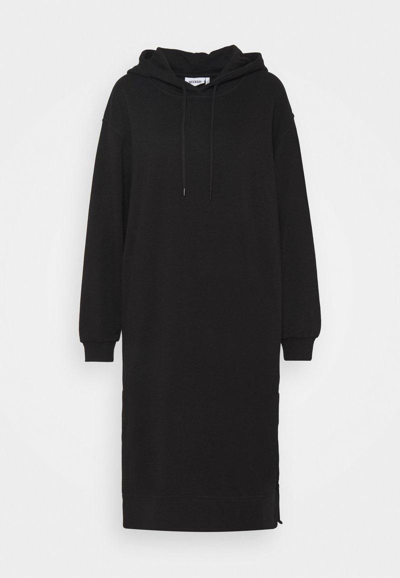 Weekday - MARCIE HOOD DRESS - Kjole - black dark