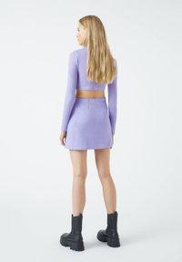 PULL&BEAR - A-line skirt - purple - 2