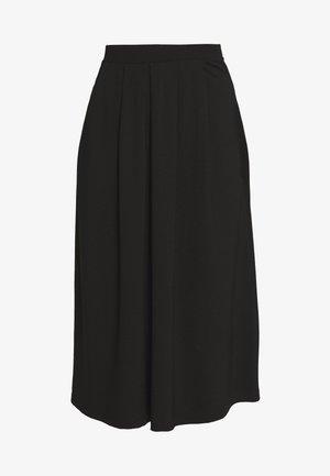 BASIC - Áčková sukně - black