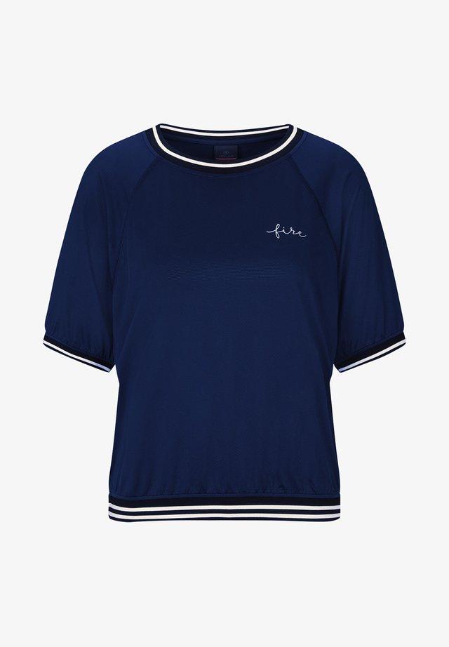 CANDICE - T-shirt imprimé - navy-blau