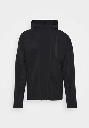 TRAINING HOODED TRACKSUIT JACKET - Felpa aperta - black