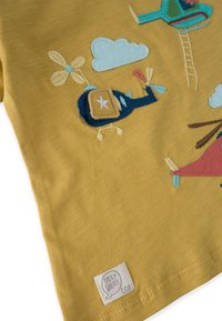Cigit - HELICOPTER EMBROIDERED  - Print T-shirt - mustard yellow - 2