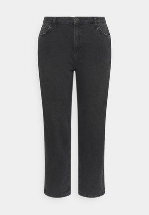 HIGH RISE - Jeans straight leg - black