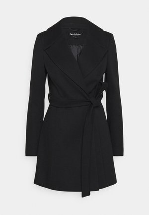 SKATER BELTED ROBE - Classic coat - black