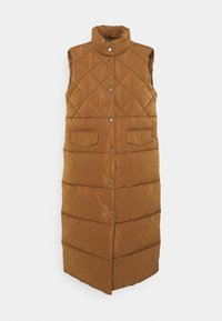 ONLY - ONLSTACY QUILTED WAISTCOAT - Chaleco - toasted coconut - 0