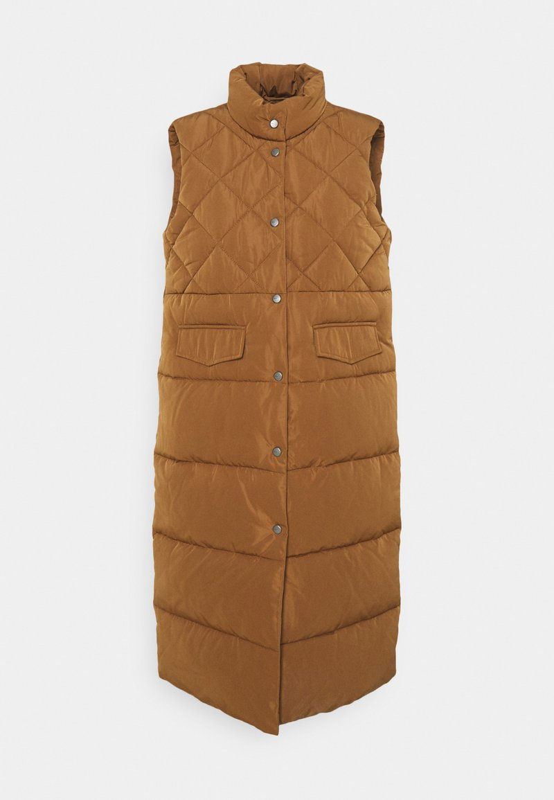 ONLY - ONLSTACY QUILTED WAISTCOAT - Waistcoat - toasted coconut