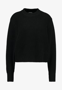 Monki - AGATA BASIC - Strikkegenser - black dark - 3