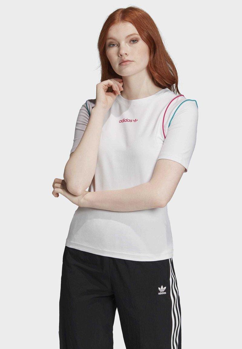 adidas Originals - SLIM T-SHIRT - T-shirt print - white