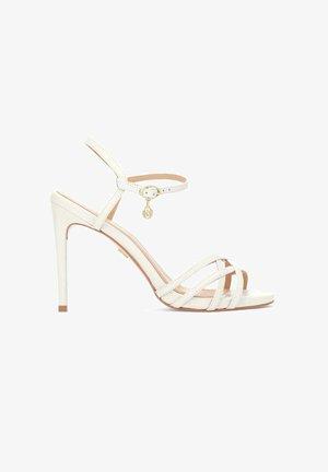 LAZURITE  - High heeled sandals - beige/white