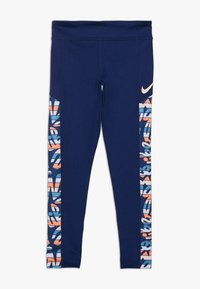 Nike Performance - TROPHY  - Leggings - blue void/white - 0