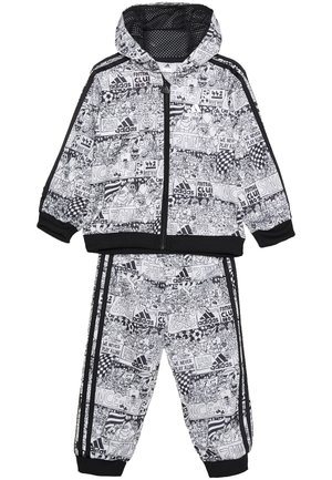 FAVOURITES TRAINING SPORTS TRACKSUIT BABY SET - Tracksuit - white/black