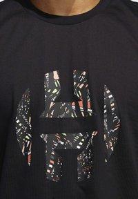 adidas Performance - HARDEN LOGO T-SHIRT - Print T-shirt - black - 3