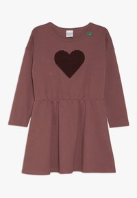 Fred's World by GREEN COTTON - STAR SOLID DRESS - Jersey dress - dark rose - 0