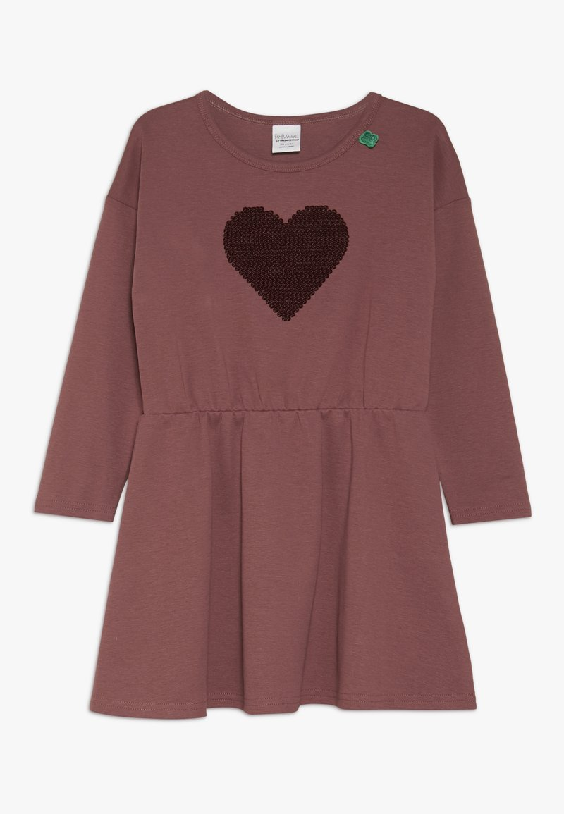 Fred's World by GREEN COTTON - STAR SOLID DRESS - Jersey dress - dark rose