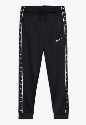 TAPE - Tracksuit bottoms - black/white