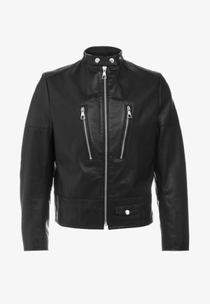 TOLIDU - Leather jacket - black