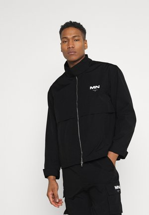 CRINKLE TECH TRACKSUIT JACKET - Summer jacket - black